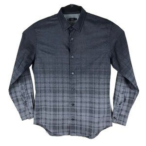 Vince  Gray Plaid Long Sleeve Button Shirt Small